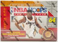 2019/20 Panini Hoops Premium Stock Basketball Mega Box (64 Cards) at PristineAuction.com