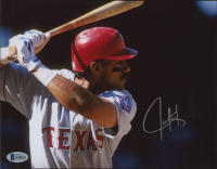 Juan Gonzalez Signed Rangers 8x10 Photo (Beckett COA) at PristineAuction.com