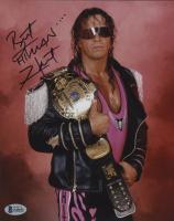 "Bret ""Hitman"" Hart Signed 8x10 Photo (Beckett COA) at PristineAuction.com"