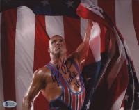 "Kurt Angle Signed 8x10 Photo Inscribed ""WWE HOF 17"" (Beckett COA) at PristineAuction.com"