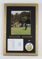 """Phil Mickelson 14"""" x 21"""" Custom Framed Photo Display with Masters Tournament Scorecard & Patch at PristineAuction.com"""