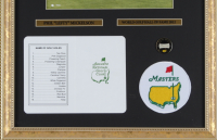 Phil Mickelson 14x21 Custom Framed Photo Display with Masters Tournament Scorecard & Patch at PristineAuction.com