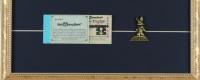"Disneyland ""Splash Mountain"" 15x26 Poster Display With Vintage Ticket Book & Bronze Pin at PristineAuction.com"