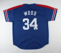 """Kerry Wood Signed Jersey Inscribed """"20 K's 5-6-98"""" (Beckett COA) (See Description) at PristineAuction.com"""