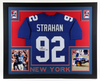 Michael Strahan Signed 35x43 Custom Framed Jersey Display (Beckett COA) at PristineAuction.com