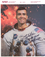 """Fred Haise Jr. Signed 8x10 Photo Inscribed """"Apollo 13 LMP"""" & """"Enterprise CDR"""" (JSA COA) at PristineAuction.com"""