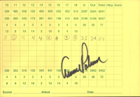 Arnold Palmer Signed Yeamans Hall Club Score Card (JSA COA) at PristineAuction.com