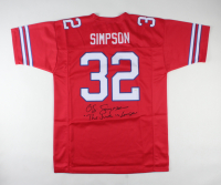 """O. J. Simpson Signed Jersey Inscribed """"The Juice Is Loose"""" (JSA COA) at PristineAuction.com"""