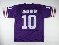 """Fran Tarkenton Signed Jersey Inscribed """"HOF 86"""" (Beckett COA) (See Description) at PristineAuction.com"""
