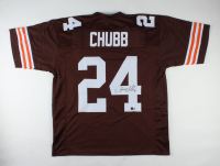 Nick Chubb Signed Jersey (Beckett COA) (See Description) at PristineAuction.com