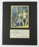 """Jack Haley Signed """"The Wizard Of Oz"""" 16x20 Custom Matted Personal Bank Check Display (JSA COA) (See Description) at PristineAuction.com"""