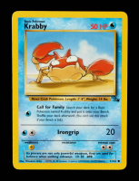 Krabby 1999 Pokemon Fossil Unlimited #51 at PristineAuction.com