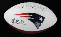 Rodney Harrison Signed Patriots Logo Football (Beckett Hologram) at PristineAuction.com