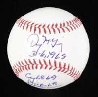Denny McLain Signed OML Baseball with (4) Career Stat Inscriptions (Beckett COA) at PristineAuction.com