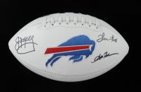 Andre Reed, Thurman Thomas, & Jim Kelly Signed Bills Logo Football (JSA COA) (See Description) at PristineAuction.com