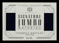 Forrest Whitley 2019 Panini National Treasures Signature Jumbo Material Booklets #4 #56/99 at PristineAuction.com