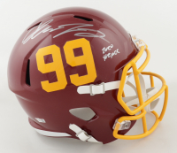 """Chase Young Signed Washington Full-Size Speed Helmet Inscribed """"2020 #2 Pick"""" (Fanatics Hologram) at PristineAuction.com"""