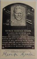 George Sisler Signed Hall of Fame Plaque Postcard (JSA LOA) at PristineAuction.com