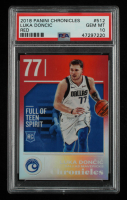 Luka Doncic 2018-19 Panini Chronicles Red #512 #142/149 (PSA 10) at PristineAuction.com
