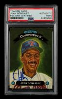 Juan Gonzalez Signed 1993 Donruss Diamond Kings #DK7 (PSA Encapsulated) at PristineAuction.com