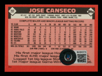 Jose Canseco Signed 1986 Topps Traded #20T XRC (Beckett COA) at PristineAuction.com