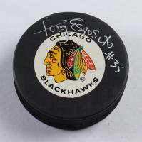 Tony Esposito Signed Blackhawks Logo Hockey Puck (Beckett COA) at PristineAuction.com