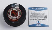 Ray Bourque Signed Bruins Logo Hockey Puck Beckett COA) at PristineAuction.com