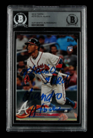 Ozzie Albies Signed 2018 Topps #276 RC with Multiple Inscriptions (BGS Encapsulated) at PristineAuction.com
