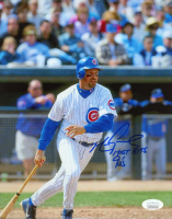 """Mark Grace Signed Cubs 8x10 Photo Inscribed """"Most Hits"""" & """"90's"""" (JSA COA) at PristineAuction.com"""
