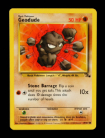 Geodude 1999 Pokemon Fossil Unlimited #47 at PristineAuction.com