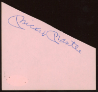 Mickey Mantle Signed 4x4 Cut (JSA LOA) at PristineAuction.com