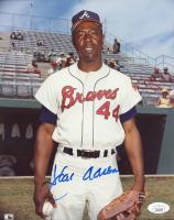 Hank Aaron Signed Braves 8x10 Photo (JSA COA) at PristineAuction.com
