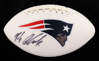 Rob Gronkowski Signed Patriots Logo Football (Fanatics Hologram) (See Description) at PristineAuction.com
