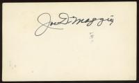 Joe DiMaggio Signed 3x5 Index Card (Beckett LOA) at PristineAuction.com