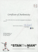 """Stan Musial Signed """"Stan the Man"""" Certificate of Authenticity (Beckett COA) at PristineAuction.com"""