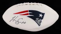 Josh Gordon Signed Patriots Logo Football (Fanatics Hologram) (See Description) at PristineAuction.com