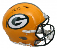 Aaron Rodgers Signed Packers Full-Size Authentic On-Field Speed Helmet (Fanatics Hologram) at PristineAuction.com