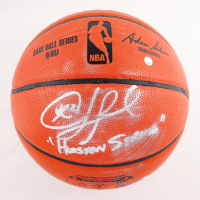 """Chris Paul Signed NBA Game Ball Series Basketball Inscribed """"Houston Strong"""" (Fanatics Hologram) (See Description) at PristineAuction.com"""