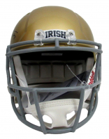 """Joe Theismann Signed Notre Dame Fighting Irish Full-Size Speed Helmet Inscribed """"Play Like A Champion Today"""" (Beckett COA) at PristineAuction.com"""