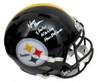 "Najee Harris Signed Steelers Full-Size Speed Helmet Inscribed ""Steeler Nation"" & ""Hurdle Harris"" (Fanatics Hologram) at PristineAuction.com"