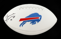 Tremaine Edmunds Signed Bills Logo Football (Beckett Hologram) at PristineAuction.com