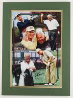 Jack Nicklaus & Arnold Palmer Signed 16x22 Custom Matted Display (JSA LOA) (See Description) at PristineAuction.com