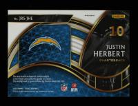 Justin Herbert 2020 Select Rookie Signature Memorabilia Prizm Gold #4 #6/10 at PristineAuction.com