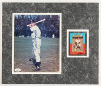 Joe DiMaggio Signed 14x16 Custom Matted Photo Display (JSA LOA) (See Description) at PristineAuction.com