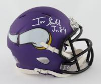 Irv Smith Jr. Signed Vikings Speed Mini Helmet (Beckett COA) at PristineAuction.com