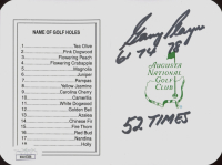 Gary Player Signed Augusta National Golf Club Score Card with Multiple Inscriptions (JSA Hologram) at PristineAuction.com