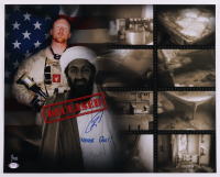 """U.S. Navy SEAL Robert O'Neill Signed LE Osama Bin Laden """"Death Scene"""" 16x20 Inscribed """"Never Quit!"""" (PSA COA) at PristineAuction.com"""
