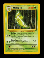 Metapod 1999 Pokemon Base Unlimited #54 at PristineAuction.com