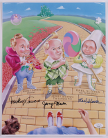 """Mickey Carroll, Jerry Maren, & Karl Slover Signed """"The Wizard of Oz"""" 11.25x14.5 Photo (JSA COA) at PristineAuction.com"""