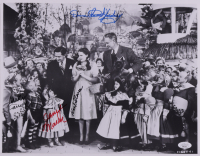 """""""The Wizard of Oz"""" 11x14.5 Photo Cast-Signed by (4) with Karl Slover, Mickey Carroll, Donna Stewart-Hardaway & Jerry Maren (JSA COA) at PristineAuction.com"""